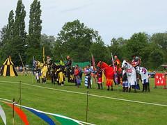 DSCF3890 (SierPinskiA) Tags: ruffordabbeycountrypark rufford knightsofnottingham fujixs1 jousting medieval horse knights goldeneagle falcon