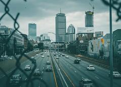 Gloomy Boston (mcgaheyk19) Tags: boston fenway bridge architecture urbanarchitecture cityscape skyline skyscraper bostonskyline cars building gloom gloomy tone tones gameoftones