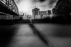 20180624 Way home (soyokazeojisan) Tags: japan osaka sunset street city people clouds bw blackandwhite walk shadow digital olympus em1markⅱ 714mm 2018