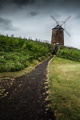 Windmills in the Rain (daedmike) Tags: windmill scotland stmonans beach seaside coast fife saltpans path historical coastgaurd