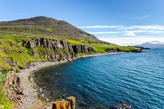 Eyjafjordur Iceland (Einar Schioth) Tags: eyjafjordur water day sky summer sea sun shore sigma sigma2470 canon clouds cloud coast cliff vividstriking fjara nationalgeographic ngc nature mountains mountain landscape photo picture outdoor iceland ísland einarschioth