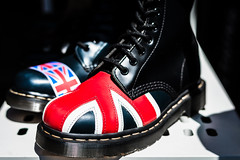Red White And Blue (Sean Batten) Tags: london england unitedkingdom gb europe camden unionjack docmartins footwear shoes boots red white blue nikon d800 58mm