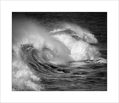 Breaking wave Lanzarote (tkimages2011) Tags: olympus digital camera water wave coast lanzarote ocean spray curl mono monochrome outside outdoors motion movement surf atlantic force em10