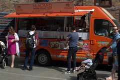 Food van at York Market (Tony Worrall) Tags: street streetphotography urban candid people person capture outside outdoors caught photo shoot shot picture captured picturesinthestreet photosofthestreet yorkshire york northyorkshire yorks tourist update place location uk england north visit area attraction open stream tour country item greatbritain britain english british gb buy stock sell sale yorkmarket foodie food streetfood market sunlit