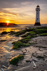 Perch Rock-2 (andyyoung37) Tags: perchrock perchrocklighthouse reflections leadinglines lowtide settingsun sunset