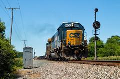 CSX 8604 - Piqua Jct. (Wheelnrail) Tags: csx csxt train trains emd sd502 locomotive railroad rail road q277 toledo subdivision signal signals cpl color