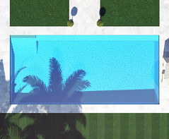 619514378 (bluehavenpoolsandspas) Tags: grass mosaic tile rectangle gray blue directlyabove shadow water swimmingpool