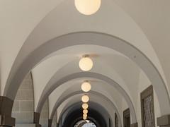 P1060073 (Elisabeth patchwork) Tags: linz austria architecture arches lamps geometry lines