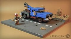 Bobby Singer (iTomWalker) Tags: lego supernatural bobby singer truck rust pickup desert post apocalypse afol moc vignette