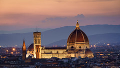 The Duomo, The Cathedral of Santa Maria Fiore (Neha & Chittaranjan Desai) Tags: tuscany florence italy travel duomo dome cathedral architecture cty cityscape twilight dusk sunset light