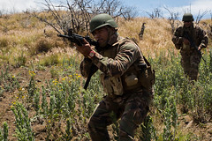 A Tongan Marine advances towards an objective during a live-fire training event during Rim of the Pacific exercise at Pohakuloa Training Area (#PACOM) Tags: rimpac rimpac2018 rimofthepacific air land sea partnership multinational exercise training capable adaptive partners mcbh usn hawaii island pacific pohakuloatrainingarea usmc strengtheningpartnerships largestmaritimeexercise maritimestrategy fireteam buddyrush tonga tongarimpac2018 unitedstates us