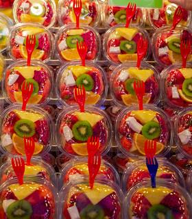 Frutas en el Mercado de La Boquería, Barcelona, España