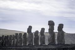 Tongariki Ten Maoi Archeological Site Easter Island Chile 02 (Barbara Brundage) Tags: tongariki ten maoi archeological site easter island chile 02