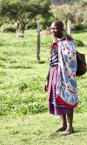 Elderly Maasai woman