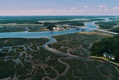 Skidaway Island (06 16 2018) (PhotoDocGVSU) Tags: skidawayisland savannahga coastalgeorgia drone uav phantom4pro aerialphotography river delta marsh