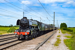 60103 + 47804 - Abbots Ripton - 23/06/18. (TRphotography04) Tags: lner gresley a3 pacific 462 no 60103 flying scotsman thunders past abbots ripton rectory lane working the scarborough flyer 1z72 0624 ealing broadway west coast railways wcrc 47804 was rear train