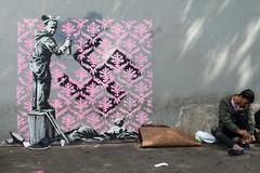 Banksy (lepublicnme) Tags: france paris june 2018 graffiti streetart stencil pochoir banksy refugees