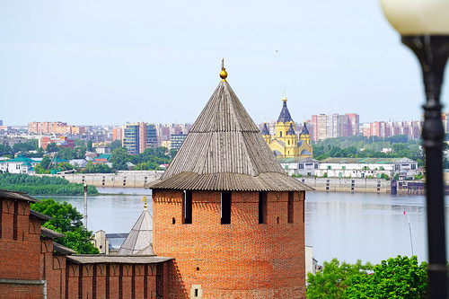 Borisoglebskaya Tower of Nizhny Novgorod's Kremlin, Russia