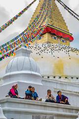 Old women sitting (Dario de Falco) Tags: religione tradizione buddismo asia nirvana nepal anziane preghiera donne kathmandu boudanath stupa