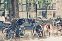 (M-L Pocket) Tags: bikes cycle summer explore amsterdam rollei rolleivariochrome variochrome architecture nautre urban canon canonae1