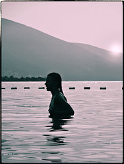 Check (ktorfa86) Tags: silhouette silueta sun sunset seasun girl girlinwater hair montenegro crnagora