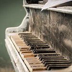 Piano at the abandoned tuberculosis hospital Beelitzer Heilstätten near Berlin, Germany. thumbnail