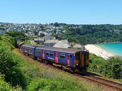 150219 Carbis Bay (5) (Marky7890) Tags: gwr 150219 class150 sprinter 2a26 carbisbay railway cornwall stivesbayline train