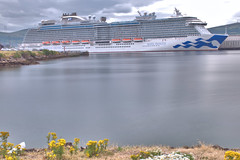 Cruise Ship Royal Princess in Belfast, Tuesday 27th July 2018 (John D McDonald) Tags: ship cruiseship princesscruises royalprincess water river lagan riverlagan victoriachannel harbour belfastharbour wharf stormontwharf northernireland ni ulster geotagged nikon d3300 nikond3300 longexposure neutraldensity neutraldensityfilter nd prond prond200 hoyaprond hoyaprond200 grey