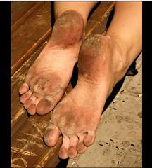 12645214_677050415731087_813477880987323404_n (paulswentkowski1983) Tags: dirty feet soles female pitch black street filthy fithy