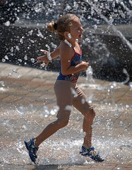 Run For Fun (Scott 97006) Tags: kid girl fun run water wet fountain play sunshine clothes