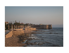 Sunset in Acre/Akko (cadadiamaslejos) Tags: unesco acre history sunset sea colors mediterranean beach wall travel explore israel