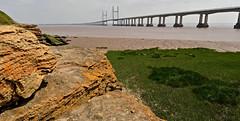 SECOND SEVERN CROSSING (chris .p) Tags: sudbrook nikon d610 capture wales bridge summer 2018 water severn landscape uk june rocks beach mud