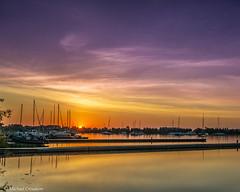 Dawn Outer Harbour, Toronto (michaelcroudson) Tags: dawn sunrise sailboats sky lake lakeontario landscape light lakeshore lakefront colours