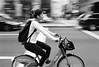 Biking Broad St. (Dalliance with Light (Andy Farmer)) Tags: nikkor28mmf28ais broadst bicycle nikonf2 motion trix street pan diafine philly bw philadelphia film iso1600 pennsylvania unitedstates us