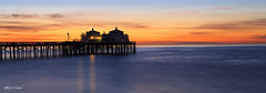 Catalina On My Mind_MG_0658-0660-Pano (Alfred J. Lockwood Photography) Tags: alfredjlockwood nature seascape sunrise twilight dawn clouds sky color malibupier southerncalifornia pacificocean pacificcoast water serene winter catalinaisland silhoutte