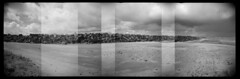 South Jetty #4 (LowerDarnley) Tags: holga holgarama panorama incamerapanorama columbiariver pacificocean oregon hammond jetty southjetty oregoncoast northwest rocks