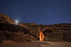 Aliens In The Desert (karenhunnicutt) Tags: upperantelopecanyon night stars aliens desert astrophography longexposure page arizona