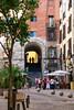 Madrid (marielledevalk) Tags: tree colors street people shadow stair vacation holiday europe traveling spain madrid