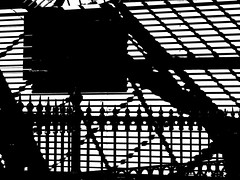 Abstract (Mr Ian Lamb 2) Tags: tynemouth station monochrome bandw contrast shadows abstract silhouette bw art digitalart abstractart conflict strife confusion clash fracas discord collision tension mono