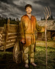 The Peasant (Repp1) Tags: portrait richardhastings model peasant farmer paysan fermier wagon cart hay foins pitchfork fourche cottage cabanon
