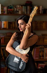 Lady and Telecaster (Jack Metthey) Tags: jackmetthey naturallight tessperrone fashion face female glamour girl guitar fender telecaster pretty portrait music