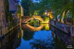 Bruges Belgium (efiske) Tags: bruges belgium reflections bridge oldbridge nightshots efiskephotos