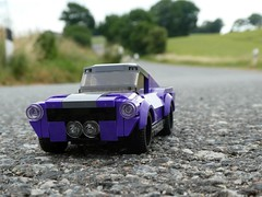 On the Road again - 1967 Mustang Fastback (captain_joe) Tags: toy spielzeug 365toyproject lego minifigure minifig moc car auto mustang fordmustang fastback thief jewell series15