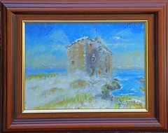 Snow at a Seaside Castle Acrylic (g crawford) Tags: castle portencross snow winter cold paint acrylic acrylicpaint painting paintings portencrossartsale crawford