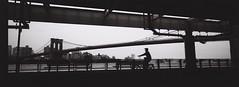 Brooklyn Bridge (THIPAYACHAN) Tags: grain analog brooklyn manhattan newyork usa bw pano xpan hasselbald film