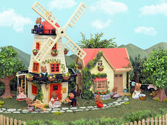 Sylvanian Families - The Old Mill (Sylvanako) Tags: sylvanian families toy toys windmill mill summer mouse mice miniture diorama