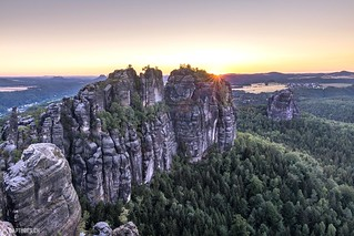 Sunset at the Schrammsteine - Saxon Switzerland
