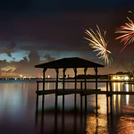 Fireworks along the Indian River Lagoon. thumbnail