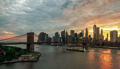 Brooklyn To Manhattan  II (Gary Walters) Tags: brooklyn bridge a7r2 buildings landscape sunset nyc water park east river cityscape a7r ii skyline sun city a7rii brooklynbridge eastriver