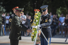 Thai Army Gen. Thanchaiyan Srisuwan, Chief of Defence Forces in Thailand, Participates in an Armed Forces Full Honors Wreath-Laying Ceremony at the Tomb of the Unknown Soldier (Arlington National Cemetery) Tags: arlingtonnationalcemetery anc arlington va virginia military soldier tomboftheunknown tus tog theoldguard 3dusinfantryregiment thailand chiefofdefense anmc mdw unitedstatesofamerica